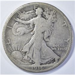 1916 WALKING LIBERTY VG