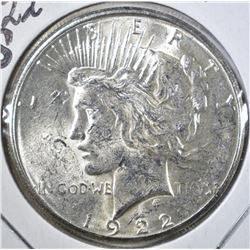 1922-S PEACE DOLLAR, GEM BU