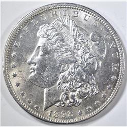 1892-CC MORGAN DOLLAR  BU