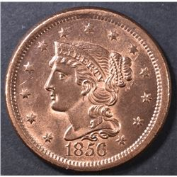 1856 LARGE CENT  CH BU FULL RED