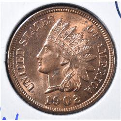 1902 INDIAN HEAD CENT  GEM BU  FULL RED