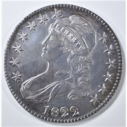 1822 BUST HALF DOLLAR  NICE AU