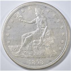 1873-S TRADE DOLLAR  CH BU  OLD CLEANING