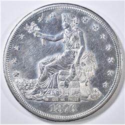 1876-S TRADE DOLLAR  BU
