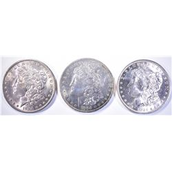 3-CH BU 1884-O MORGAN DOLLARS