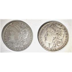 1901 F/VF & 1901-S VF/XF MORGAN DOLLARS