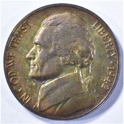 1942-P JEFFERSON SILVER NICKEL CHOICE PROOF