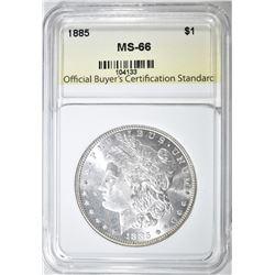 1885 MORGAN DOLLAR SUPERB GEM