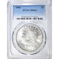 1884 MORGAN DOLLAR  PCGS MS-64