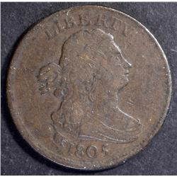 1805 HALF CENT, VF a few marks