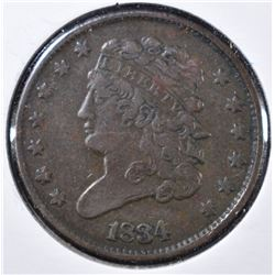 1834 VF/XF HALF CENT