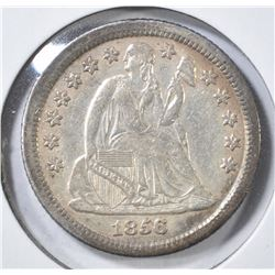 1856-O LIBERTY SEATED DIME XF/AU