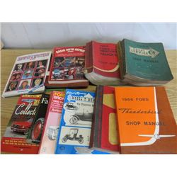 LOT OF AUTOMOTIVE MANUALS (BOX FULL, APPROXIMATLY 10)