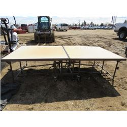 PORTABLE STAGE ( FOLDS UP, ON CASTERS) *8' X 4'*