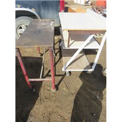 LOT OF 2 SHOP STANDS
