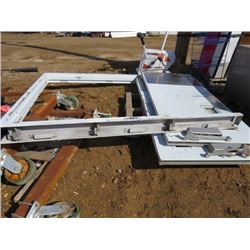 DOUBLE STEEL DOOR AND FRAME (72 INCHES WIDE)