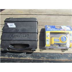 LOT OF ASSORTED ITEMS ( BRAD NAILER *STANLEY*, POWER TAPE MEASURE)