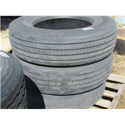 LOT OF 3 TIRES (MICHELIN) *275-80-R22.5*