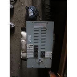 ASSORTED LOT INCLUDES (200 AMP BREAKER BOX WITH BREAKERS) *1HP ELECTRIC MOTOR*