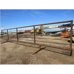 30 FOOT CORRAL PANEL (FREE STANDING) *SUCKER RED* (WELL BUILT)