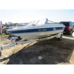 "16 FOOT BOAT, MOTOR AND TRAILER (OPEN FRONT) *OMC COBRA, CALAIS GT* (ZK019365B292-SOLD ""AS IS"")"
