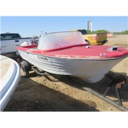 "BOAT, MOTOR AND TRAILER (CHRYSLER 45 HP) *12 FOOT-SOLD ""AS IS"" *"