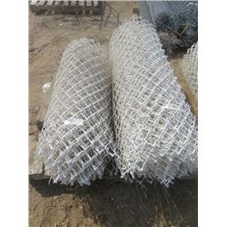 WHITE CHAIN LINK FENCING (3' AND 4' LENGTHS)