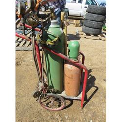 ACETYLENE TORCH SET (COMPLETE WITH TANKS AND CART)