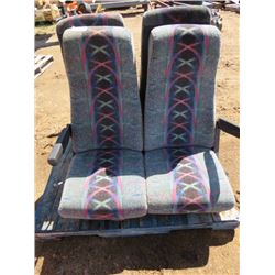 LOT OF 2 SETS OF RECLINING BUS SEATS