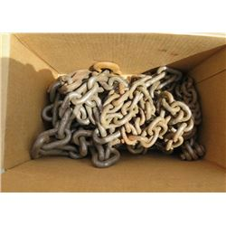LOT OF 3 CHAINS (APPROX LENGTHS; 8', 10', 15') *DIFFERENT WEIGHTS*