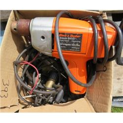 HAMMER DRILL AND LOT OF ASSORTED ELECTRICAL TOOLS (BLACK& DECKER)