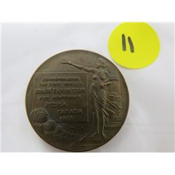 "COMMEMORATIVE COIN ""THE FIRST WORLD'S CRAIN EXHIBITION"" (REGINA CANADA 1933)"