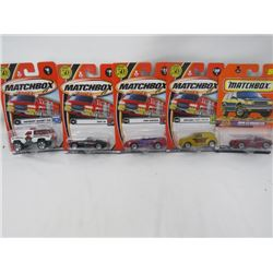 LOT OF 5 MATCHBOX VEHICLES (CHEVROLET BLAZER, FORD MUSTANG, BMW Z8, CHRYSLER PANEL CRUISER, BMW Z3 R
