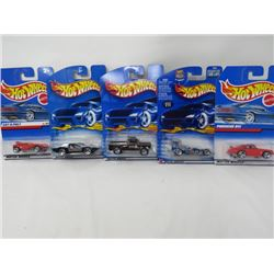 LOT OF 5 HOTWHEEL VEHICLES (PORSCHE 911, SUPER MODIFIED, BYWAYMAN, SIDEKICK, CAT-A-PULT)