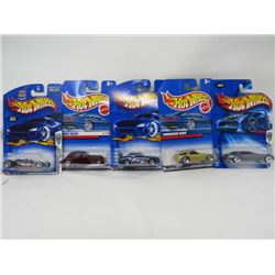 LOT OF 5 HOTWHEEL VEHICLES (PORSCHE 928, NISSAN SKYLINE, CADILLAC V-16, CORD 1936, TIRE FRYER)
