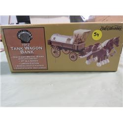 METAL COIN BANK (1922) *TANK WAGON* (SHELL GASOLINE) *1ST IN SERIES*