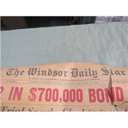 NEWSPAPERS (WINDSOR DAILY STAR) *1956*