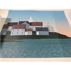 PAINTING (HOUSE ON WATER EDGE) *NOT FRAMED* (HC XXII/XXX)