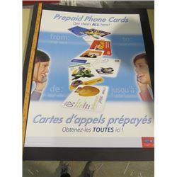 CANADA POST POSTER (PREPAID PHONE CARD)