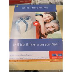 CANADA POST POSTER (JUNE 15 IS TOTALLY DAD'S DAY)