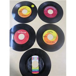 LOT OF RECORDS (SIZE 45) *THE HOLLIES, JOEY DEE, JOHN PHILLIPS, PETER AND GORDON & LEAPY LEE*