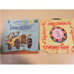 LOT OF RECORDS (SIZE 45) *GNOME-MOBILE MISSING THE RECORD* (HEY LITTLE P.J. GIRL)