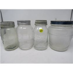 JAR LOT (NABOB ROUND JAR, BLUE RIBBON, BALL) *NEW GEM*