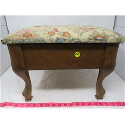 NICE TAPESTRY FOOTSTOOL (LIFT TOP) *STORAGE, DECORATIVE DESIGN*
