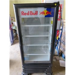 """RED BULL FRIDGE ( 52.5X23X24.5) *NOT GARANTEED TO WORK, SOLD IN """"AS IS"""" CONDITION*"""