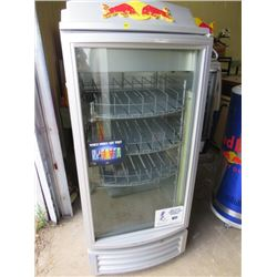 """RED BULL FRIDGE/COOLER (57X24X23)*NOT GARANTEED TO WORK, SOLD IN """"AS IS"""" CONDITION*"""