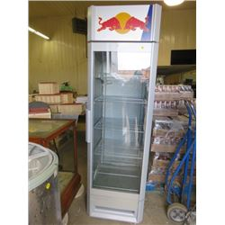 """RED BULL FRIDGE/COOLER (70X24X26)*NOT GARANTEED TO WORK, SOLD IN """"AS IS"""" CONDITION*"""