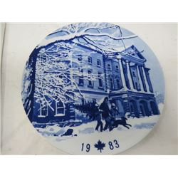 DECORATIVE PLATE (CANADA CHRISTMAS) *1983* (LIMITED EDITION)