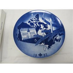 DECORATIVE PLATE (CANADA CHRISTMAS) *1982* (LIMITED EDITION)