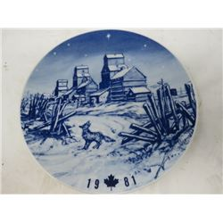 DECORATIVE PLATE (CANADA CHRISTMAS) *1981* (LIMITED EDITION)